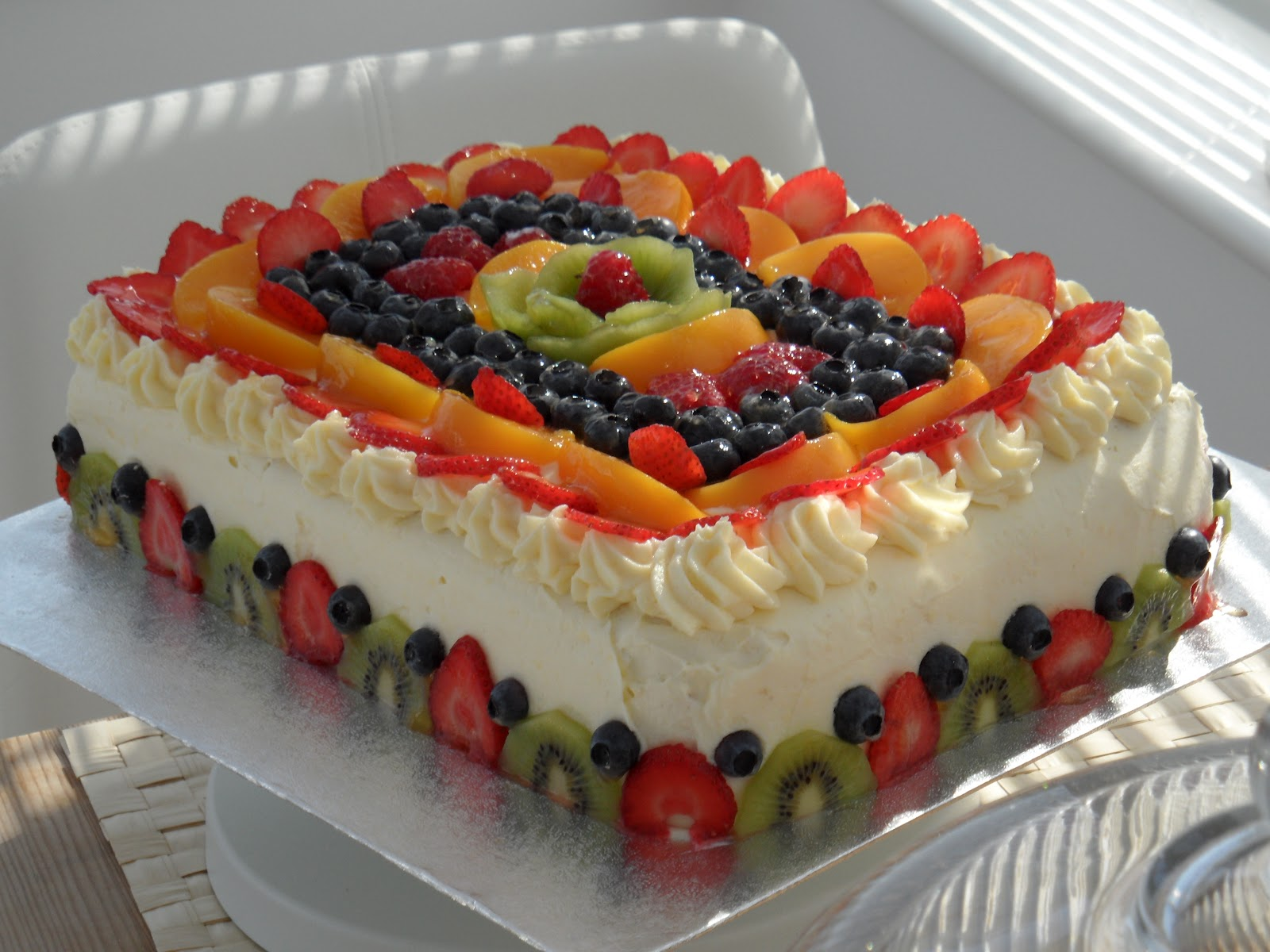 Торты с фруктами своими руками фото