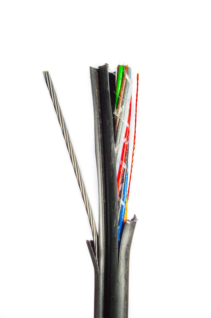 Оптический кабель O-LFP(NA)MP-24E9/125/Flex (Figure-8) 24 волокна с троссом