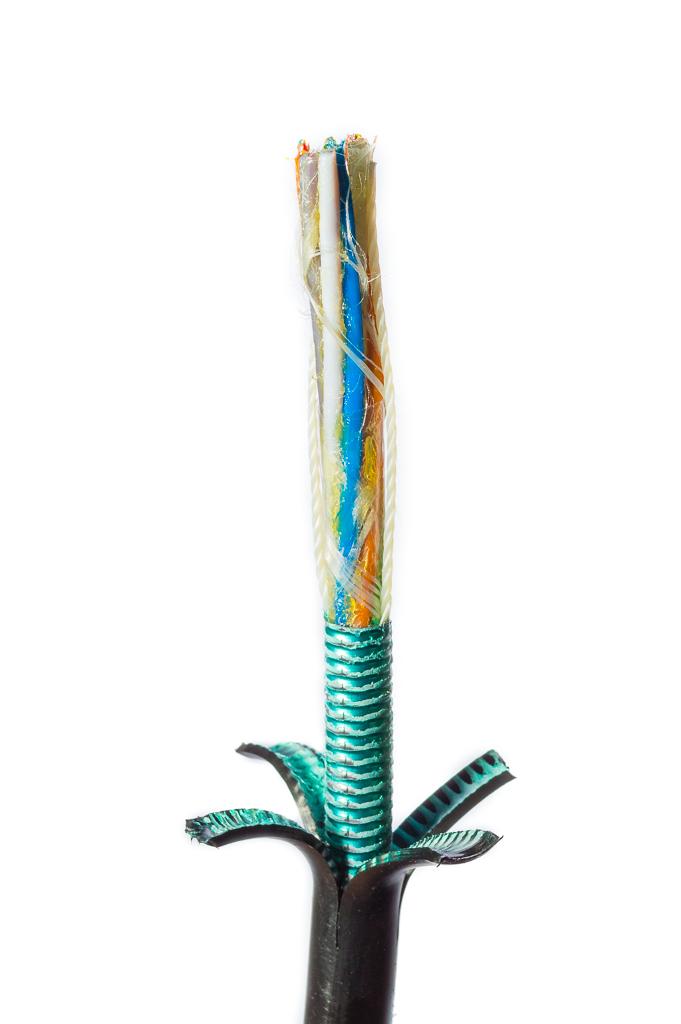Оптический кабель O-LFP(SR)P-60E9/125/Flex 60 волокон гофроброня