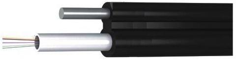ВО кабель фигура 8 легкий (400N), 4e9/125, стальной прут D1.5mm, Orient
