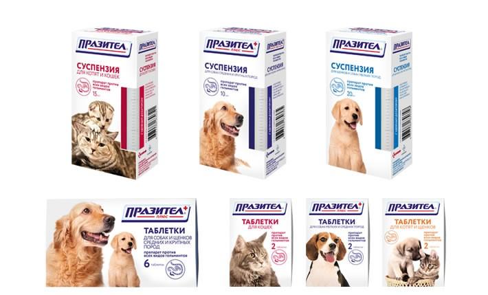 Празител в суспензии для лечения гельминтозов у собак и других домашних питомцев