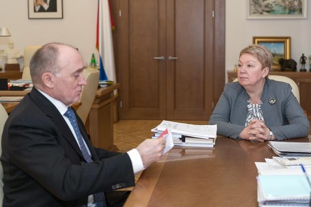 О. Ю. Васильева провела рабочую встречу с губернатором Челябинской области