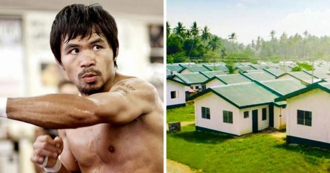 Всемирно известный боксер построил новые дома для своих сельчан