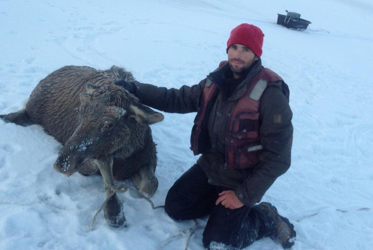 Как житель Барнаула спас лося из-под льда