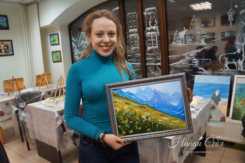Мастер-класс картина маслом в Москве