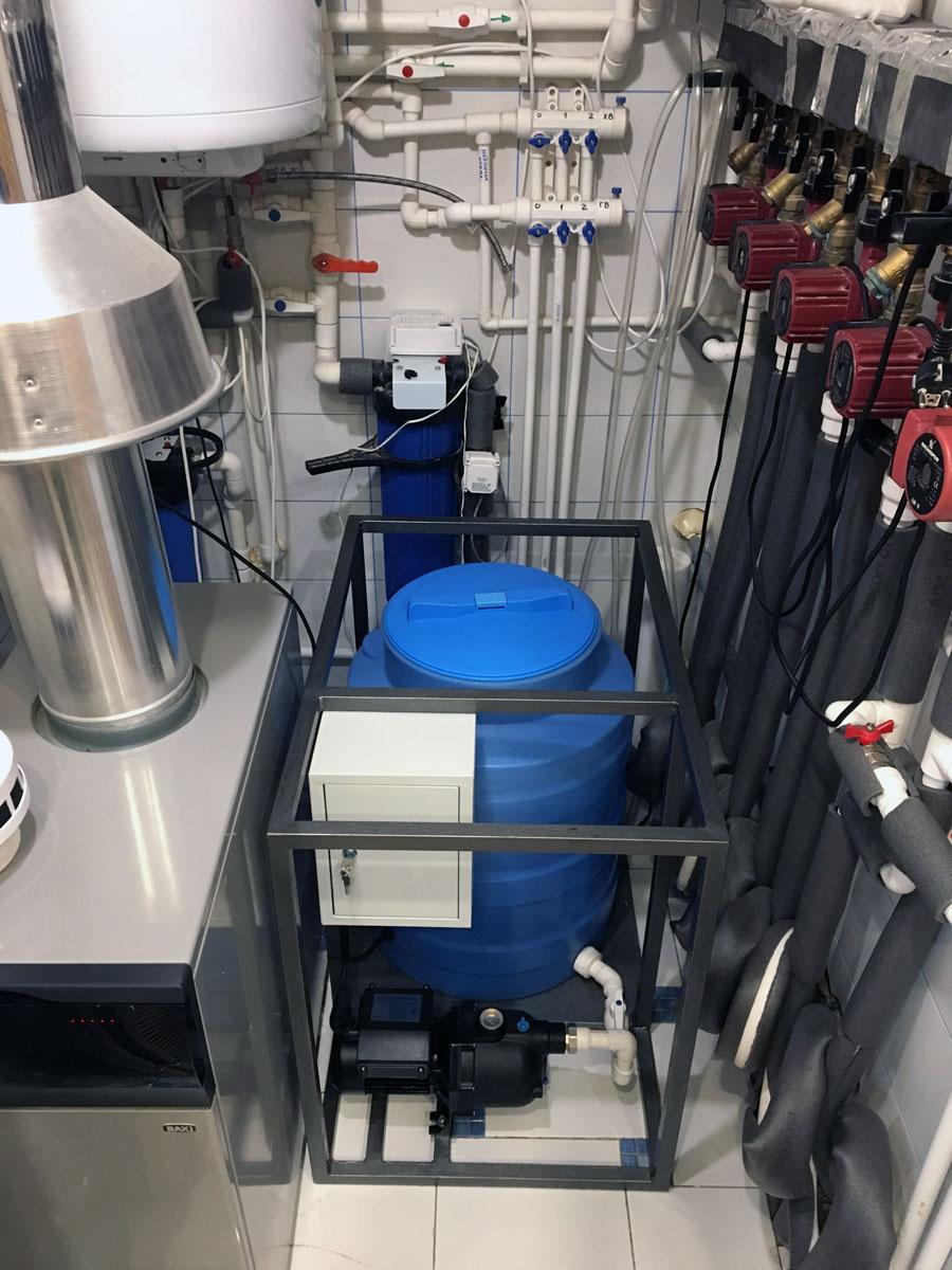 залить антифриз в систему отопления