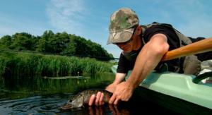 Процесс ловли рыбы