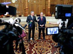 Вячеслав Володин подвел итоги официального визита в Таджикистан