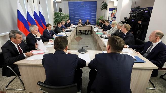 В Алтайском крае обсудили реализацию национальных проектов в области развития сельских территорий