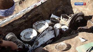 В Перми обнаружили сундук с тремя сервизами начала ХХ века
