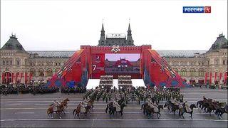 Парад в честь 78-й годовщины легендарного марша 1941-го года прошел на Красной площади