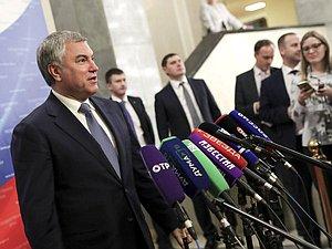 Вячеслав Володин поведал, как Государственная Дума защитила обманутых дольщиков