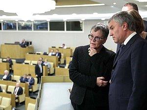 Вячеслав Володин встретился с Председателем ПАСЕ Лилиан Мори Паскье