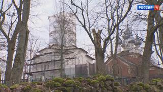 В Псковской области реставрируют церковь Успения Богородицы