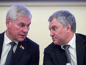 Вячеслав Володин засвидетельствовал свое почтение Владимира Андрейченко с переизбранием