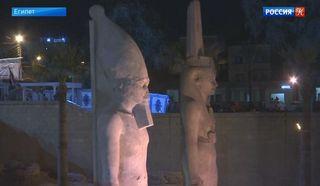 Реставраторы представили восстановленную статую Рамзеса II