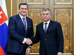 Руководитель ГД и руководитель Национального совета Словакии обсудят вопросы межпарламентского взаим