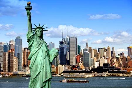 статуя свободы в США
