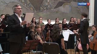 Московский Синодальный хор исполнил произведение греческого композитора Савваса Каратзиаса