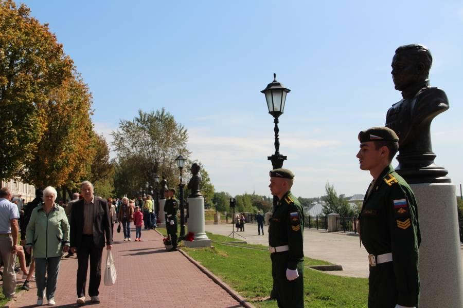 В Костроме открыли аллею героев Великой Отечественной войны