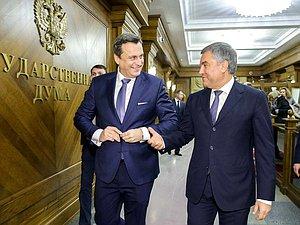 Вячеслав Володин засвидетельствовал свое почтение Андрея Данко с Днем Конституции Словакии