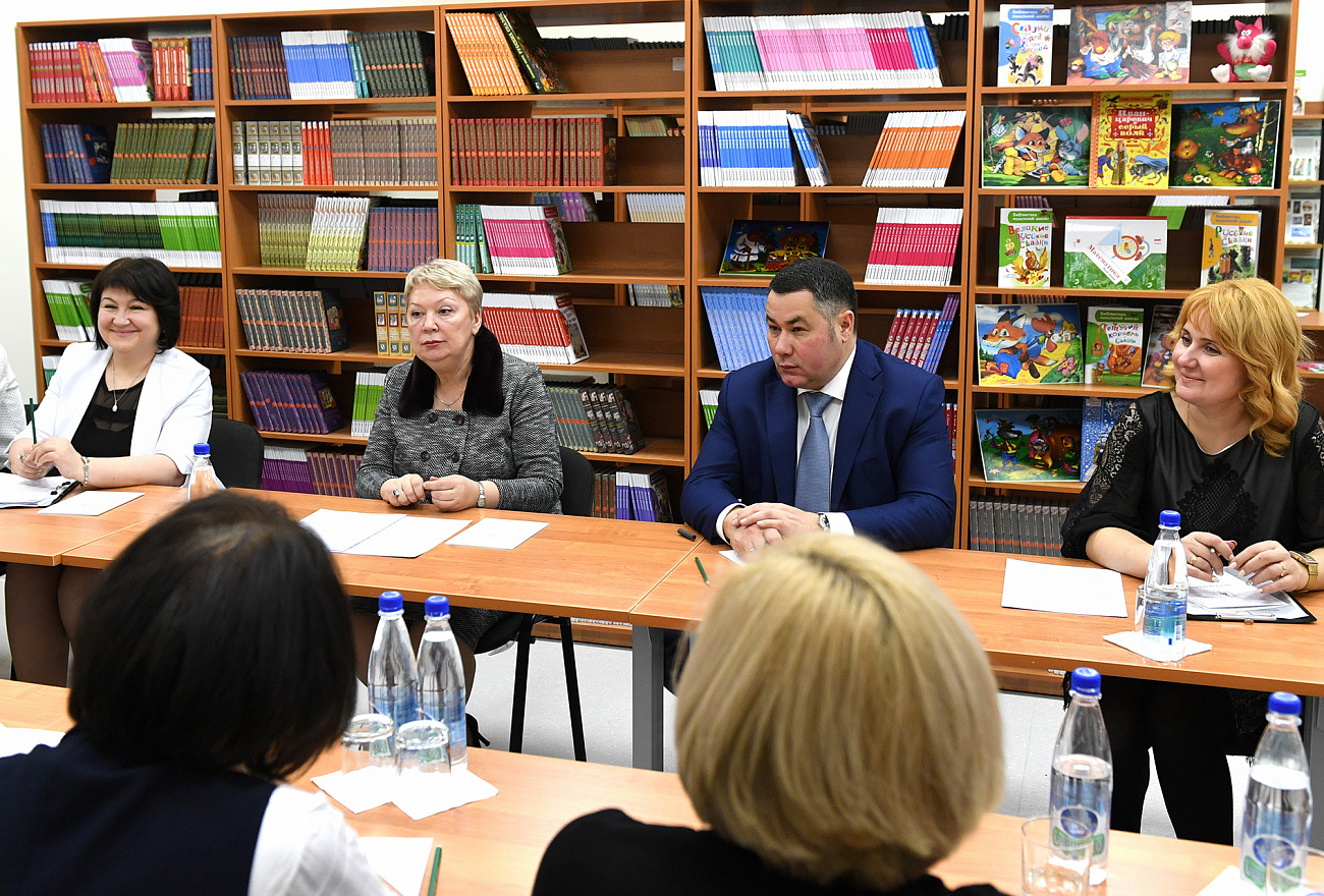 Глава министерства просвещения держала речь с открытой лекцией перед тверскими школьниками