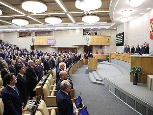 Руководители фракций выступили на первом пленарном совещании весенней сессии