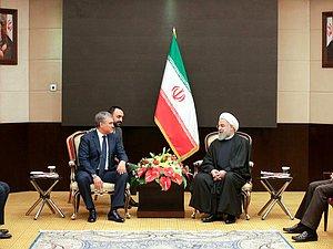 Руководитель ГД согласовал с Президентом Ирана развитие отношений пары стран