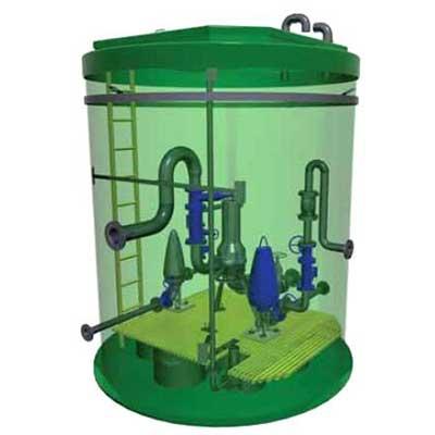 канализационный станция и установка