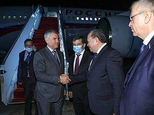 Вячеслав Володин приехал в Таджикистан