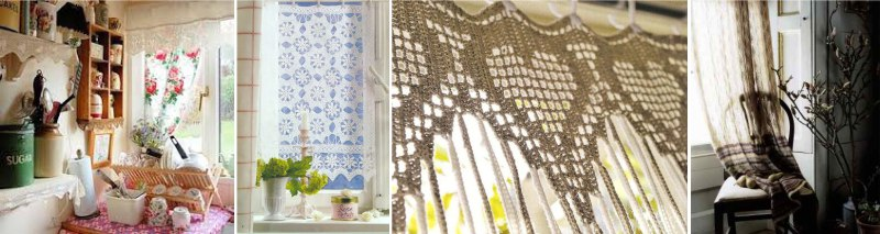 вязанные шторы